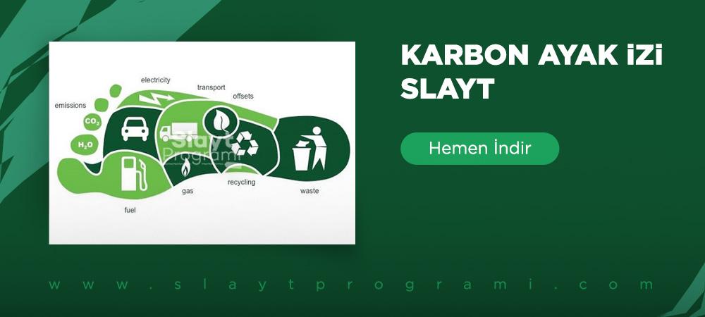 karbon ayak izi slayt slaytprogrami com