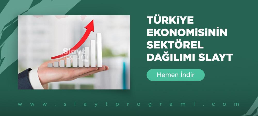 turkiye ekonominisinin sektorel dagilimi slayt slaytprogrami com